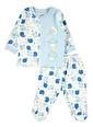 Kujju Bebek Penye Pijama Takımı Mavi Mavi